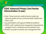 fqhc advanced primary care practice demonstration 3 year