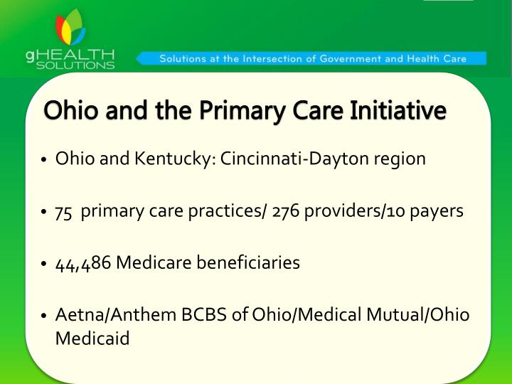 Ohio and the Primary Care Initiative