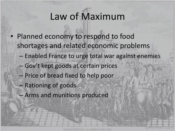 Law of Maximum