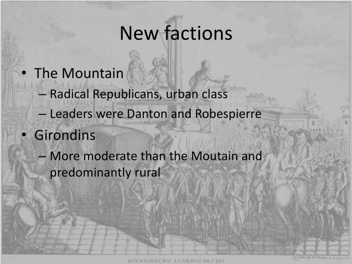 New factions