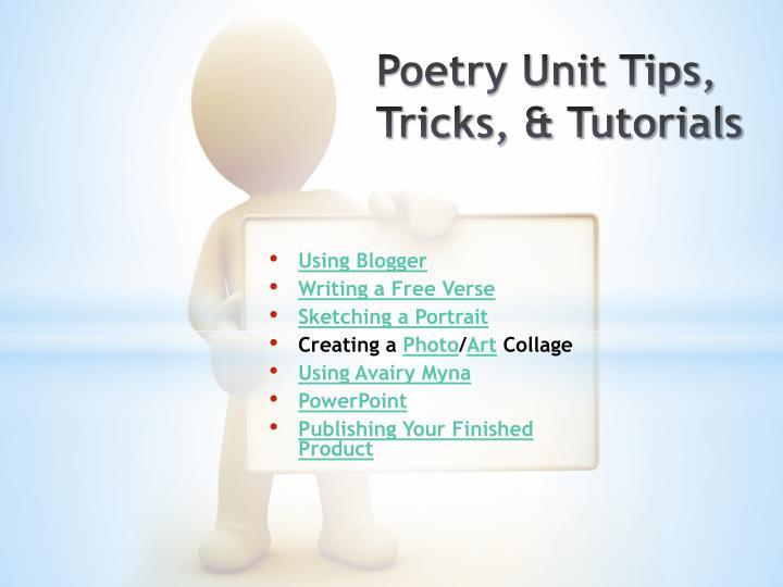 Poetry unit tips tricks tutorials