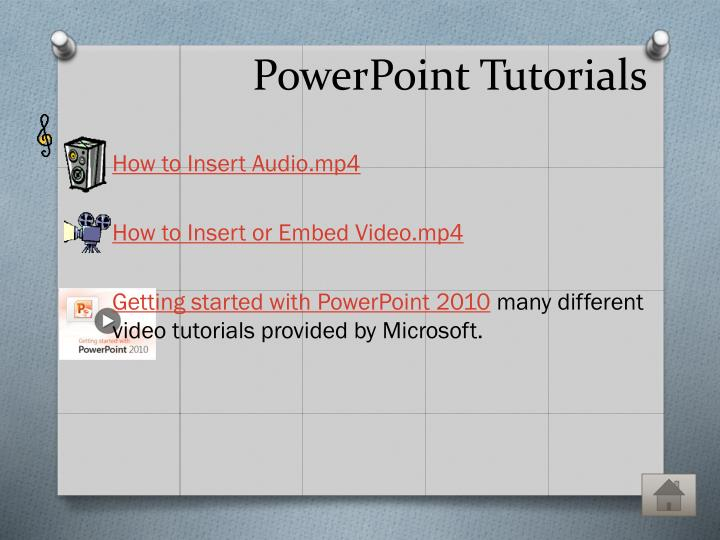 PowerPoint Tutorials