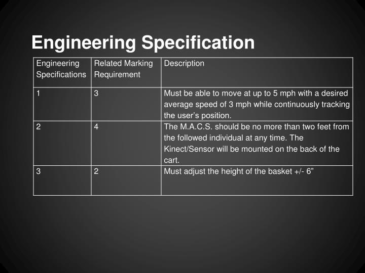 Engineering Specification