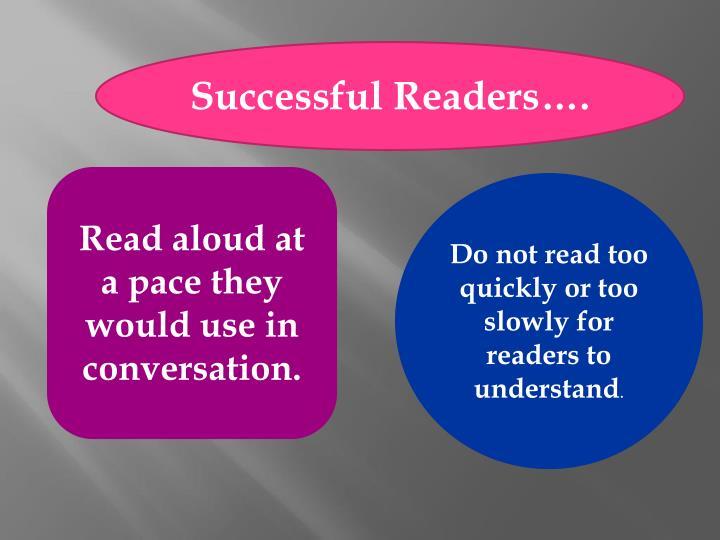 Successful Readers