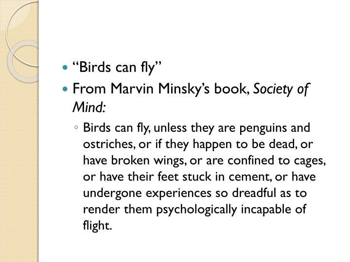 """""""Birds can fly"""""""