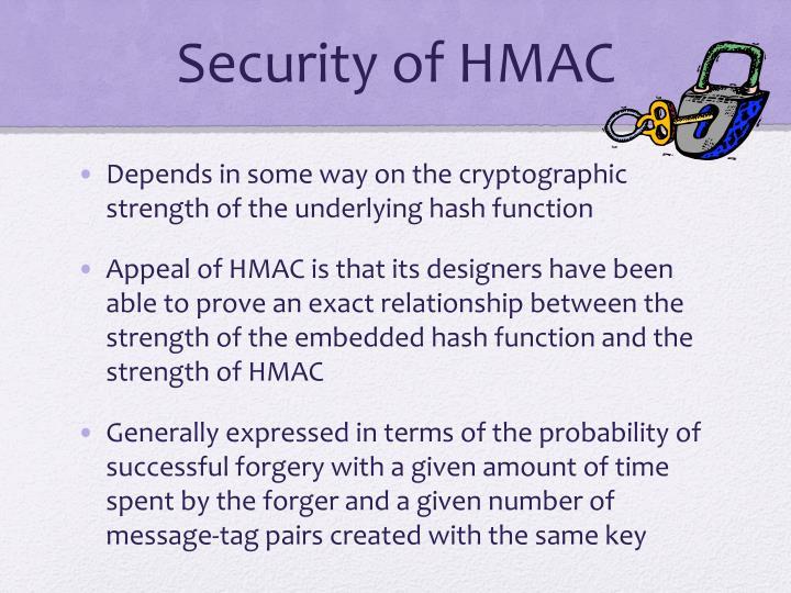 Security of HMAC