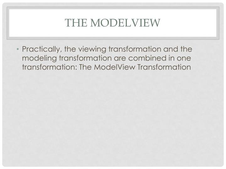 The Modelview