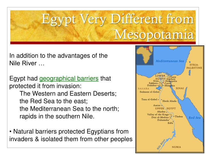 Egypt Very Different from Mesopotamia