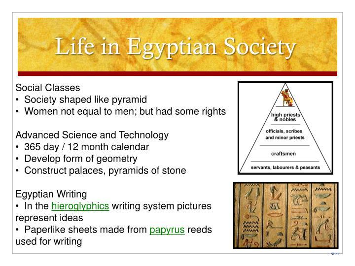 Life in Egyptian Society