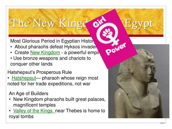 The New Kingdom Of Egypt