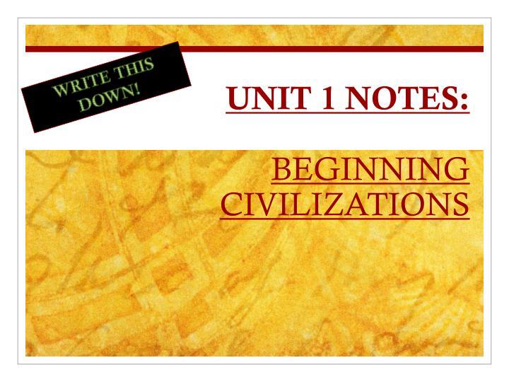 UNIT 1 NOTES:
