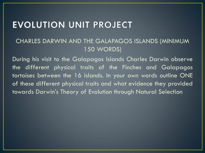 EVOLUTION UNIT PROJECT