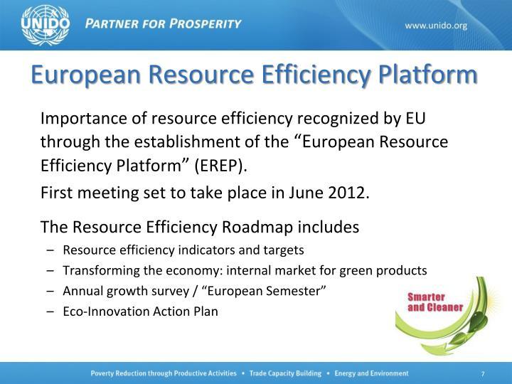 European Resource Efficiency Platform