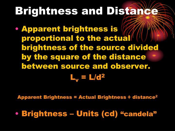 Brightness and Distance