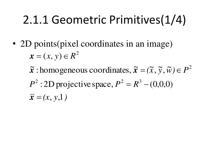 2 1 1 geometric primitives 1 4