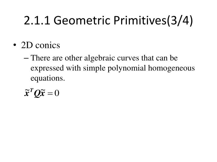 2.1.1 Geometric Primitives(3/4)