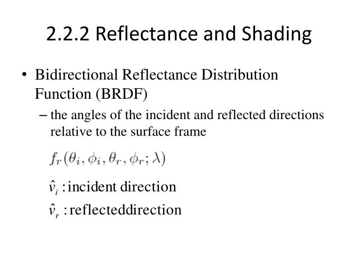 2.2.2 Reflectance and Shading
