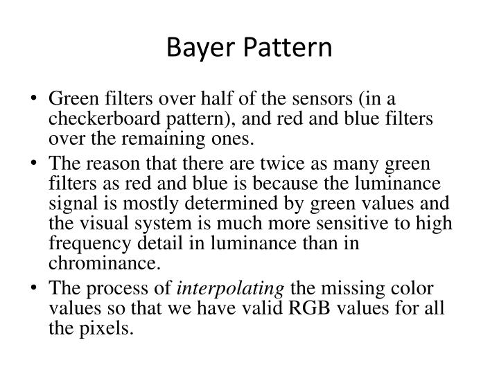 Bayer Pattern
