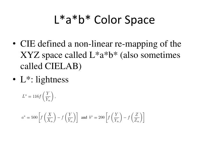 L*a*b* Color Space