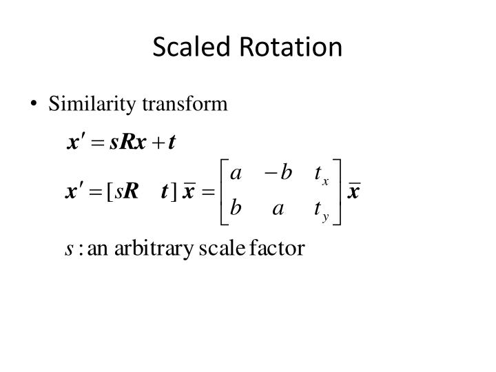 Scaled Rotation