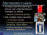peer instruction in lecture