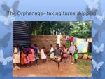 the orphanage taking turns skipping