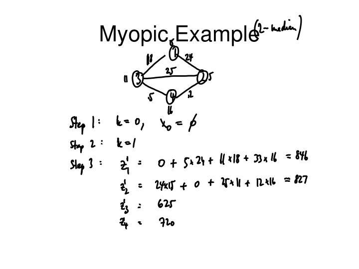Myopic Example