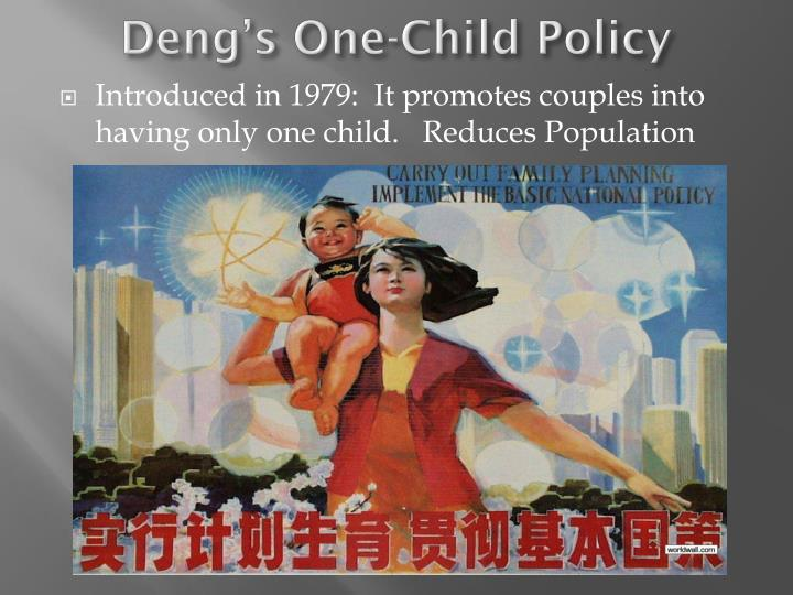 Deng's One-Child Policy