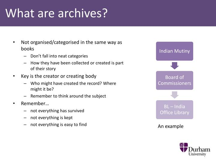What are archives?