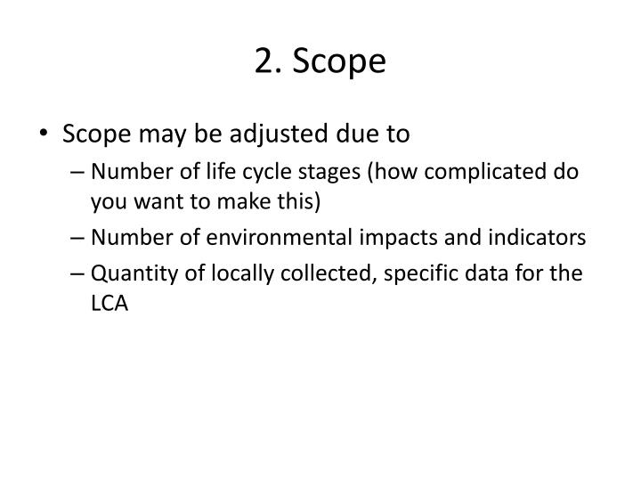 2. Scope