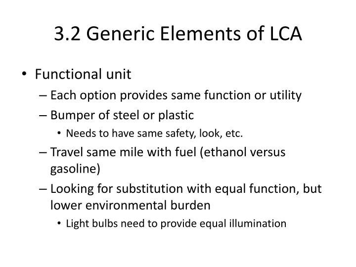 3.2 Generic Elements of LCA