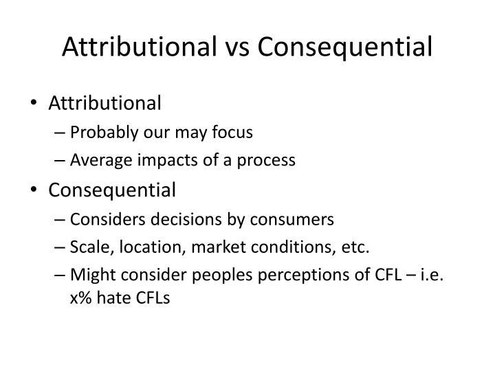 Attributional
