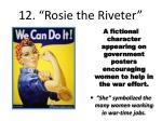 12 rosie the riveter