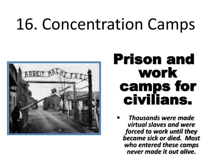 16. Concentration Camps