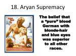 18 aryan supremacy