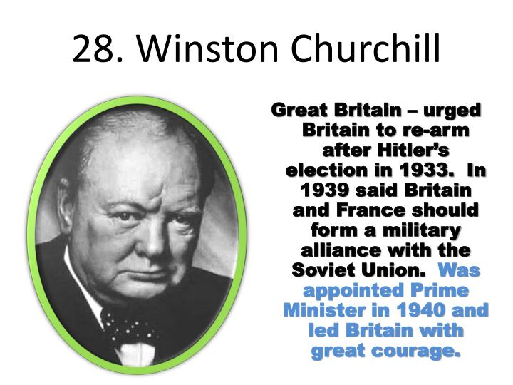 28. Winston Churchill