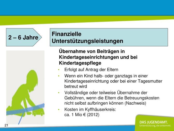 Übernahme von Beiträgen in Kindertageseinrichtungen und bei Kindertagespflege