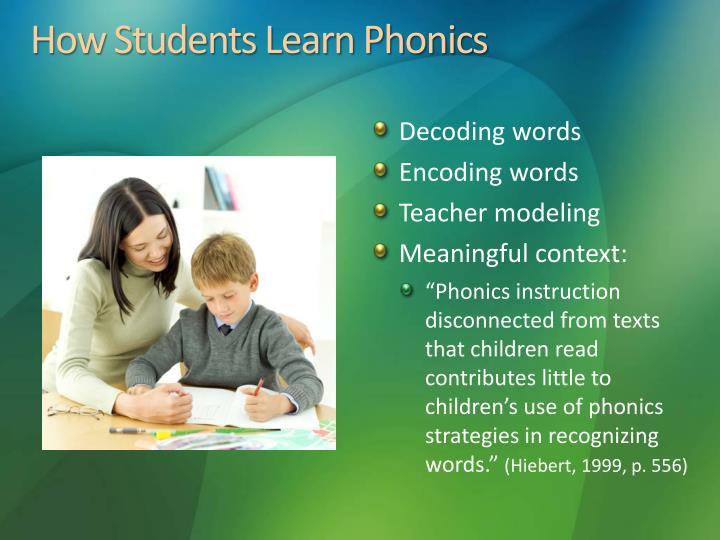 How Students Learn Phonics