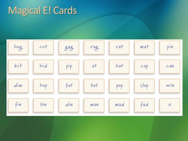 Magical E! Cards