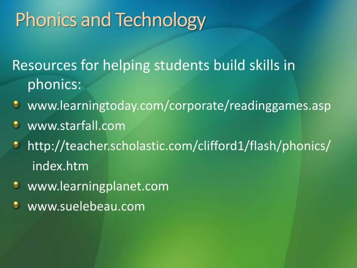 Phonics and Technology
