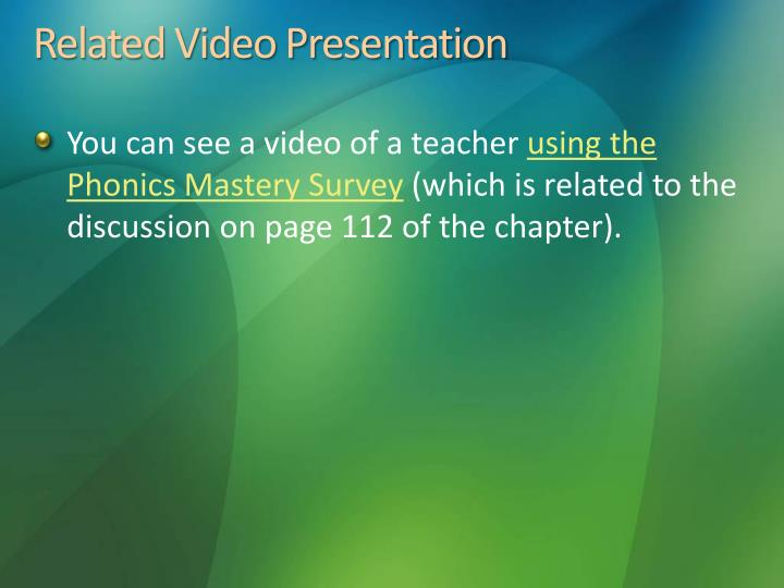 Related Video Presentation