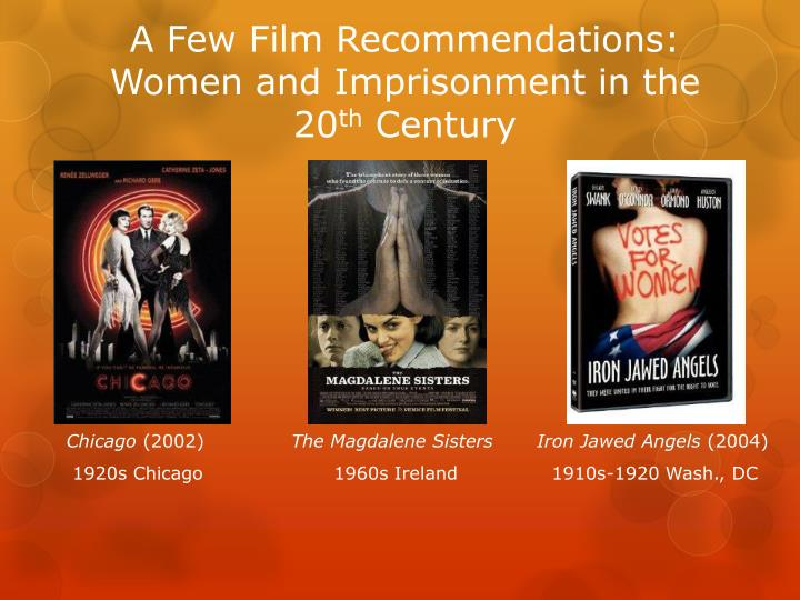 A Few Film Recommendations: Women and Imprisonment in the 20