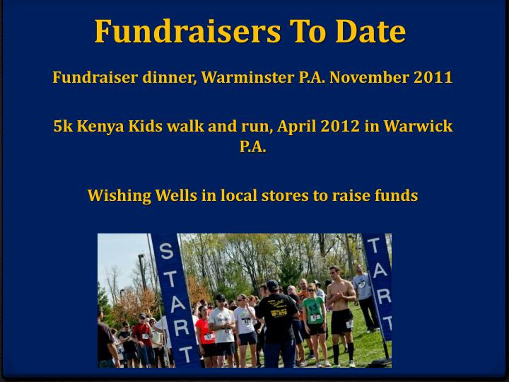 Fundraisers To Date