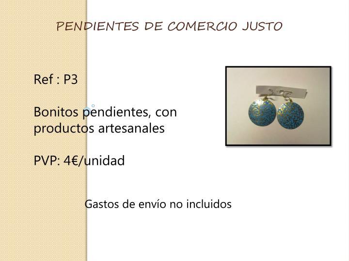 PENDIENTES DE COMERCIO JUSTO