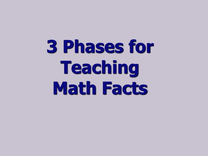 3 Phases for Teaching