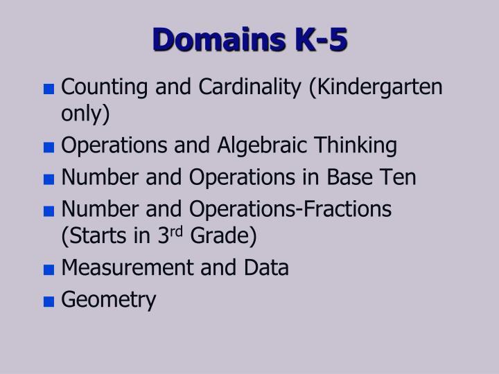 Domains K-5