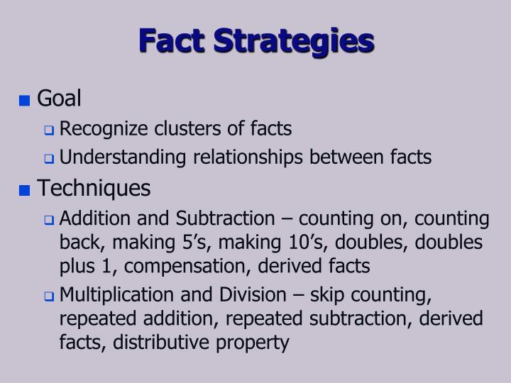 Fact Strategies