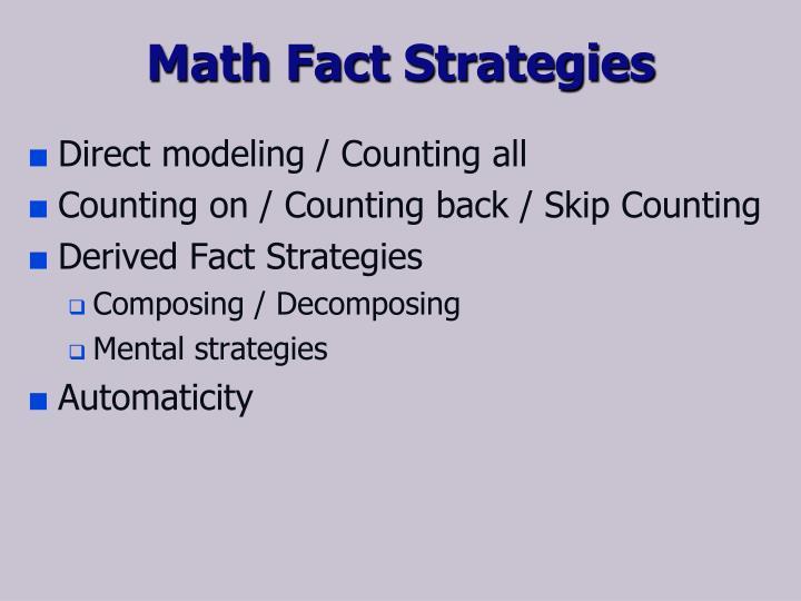 Math Fact Strategies