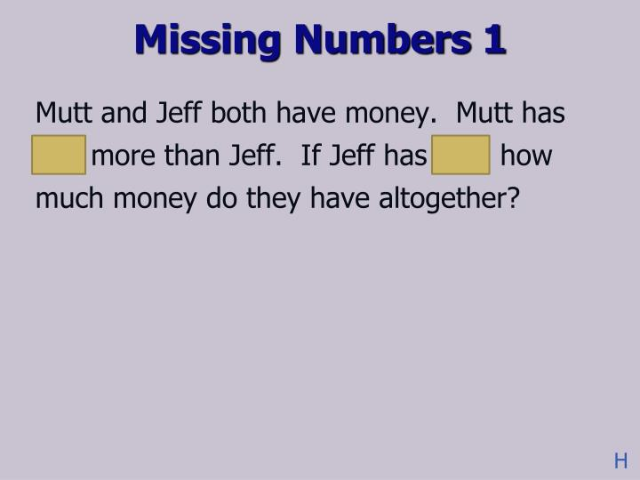 Missing Numbers 1