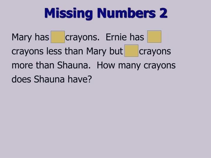 Missing Numbers 2
